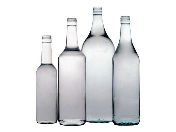 glass bottles of wine